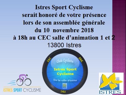 Invitation AG 2018 samedi 10 novembre 18 heures