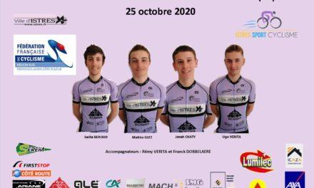 Les ISTREENS AU CHAMPIONNAT DE FRANCE DE L'AVENIR